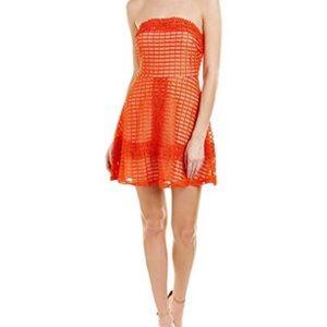 J.O.A. Strapless Lace Shift Dress